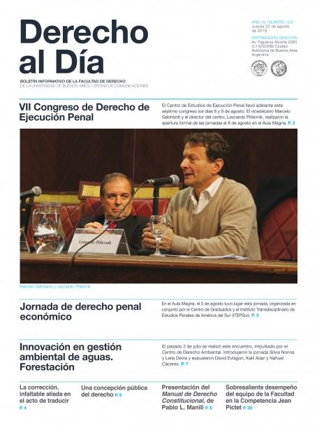 Tapa de Derecho al Día - Edición 324