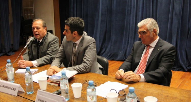 Marcelo Gebhardt, Christian Cao y Jorge Bercholc