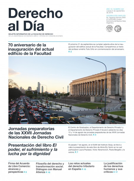 Tapa de Derecho al Día - Edición 325