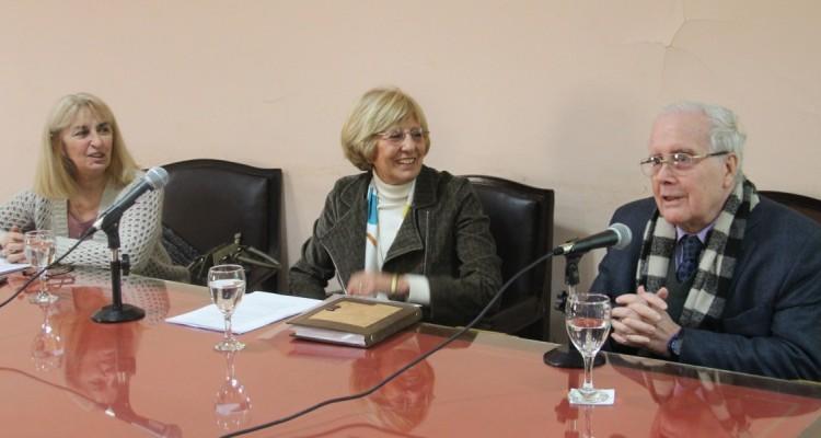María del Carmen Maza, Corina Tiribelli y Tulio Ortiz