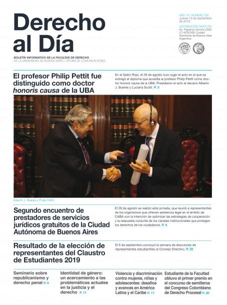 Tapa de Derecho al Día - Edición 326