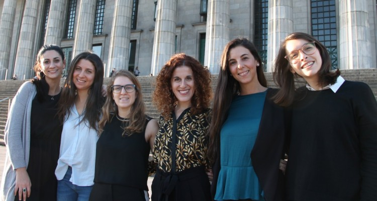 Giuliana Morano, Jennifer Grunberg, Nicole Levy, Melanie Ghertner, Casandra Sol Sans y Melisa Szlajen