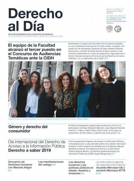 Tapa de Derecho al Día - Edición 327