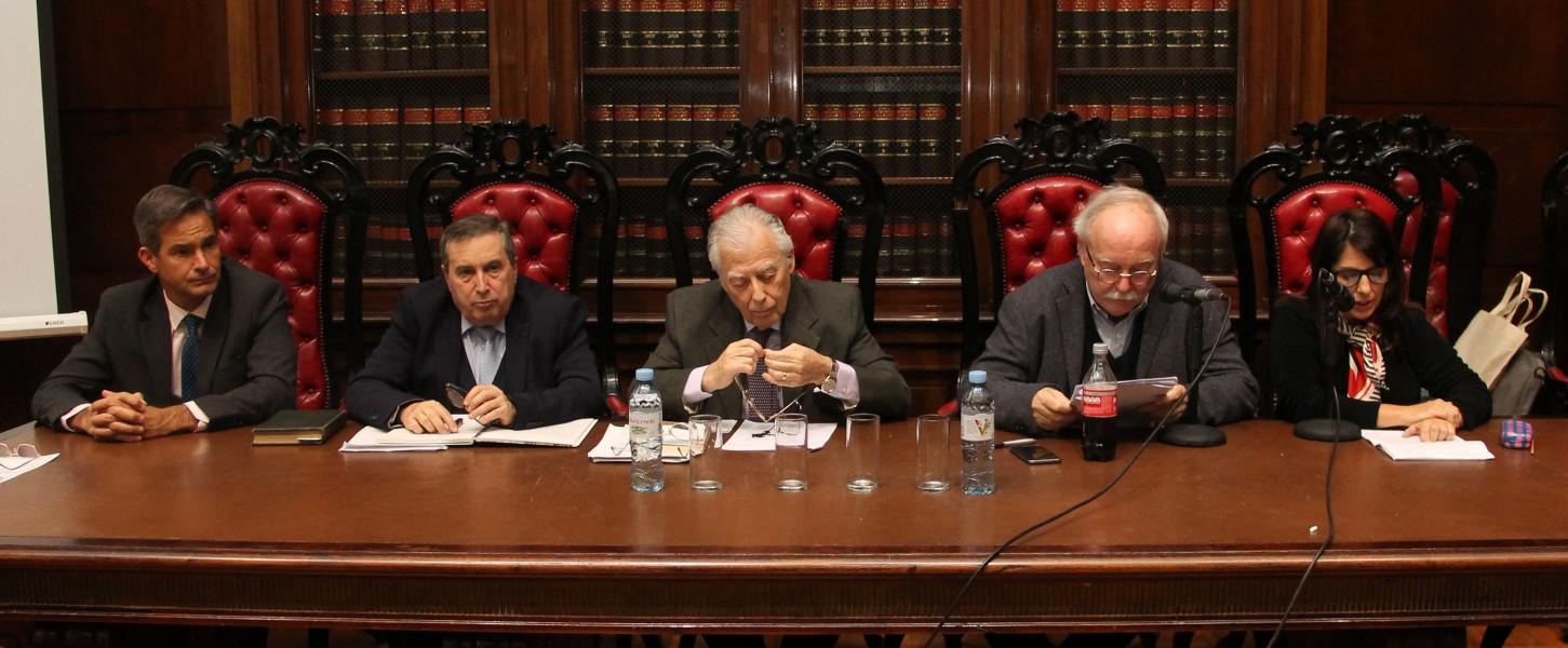 Pablo L. Manili, Marcelo López Alfonsín, Mario Federici, Patrice Vermeren y Natalia Prunes