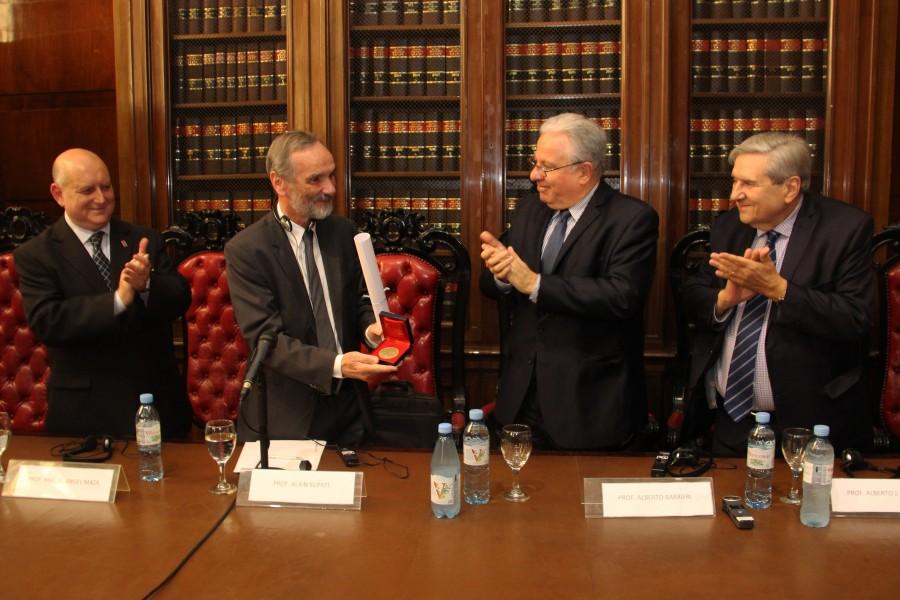 Miguel Ángel Maza, Alain Supiot, Alberto Barbieri y Alberto J. Bueres