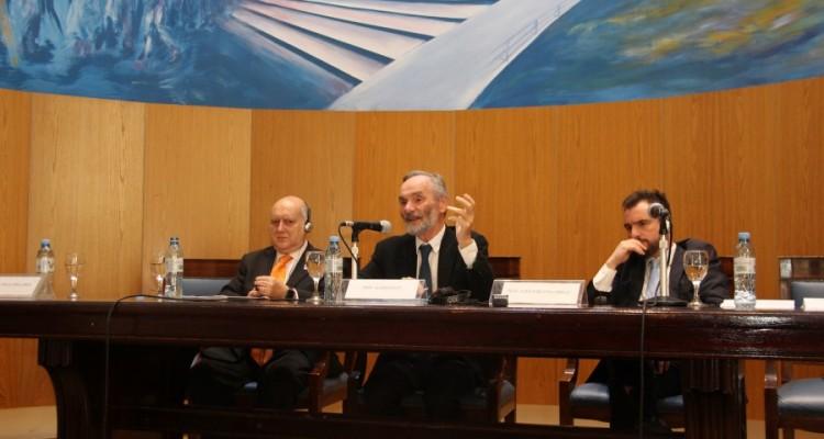 Miguel Ángel Maza, Alain Supiot y Juan Pablo Mugnolo