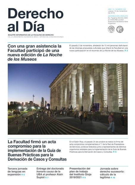 Tapa de Derecho al Día - Edición 330