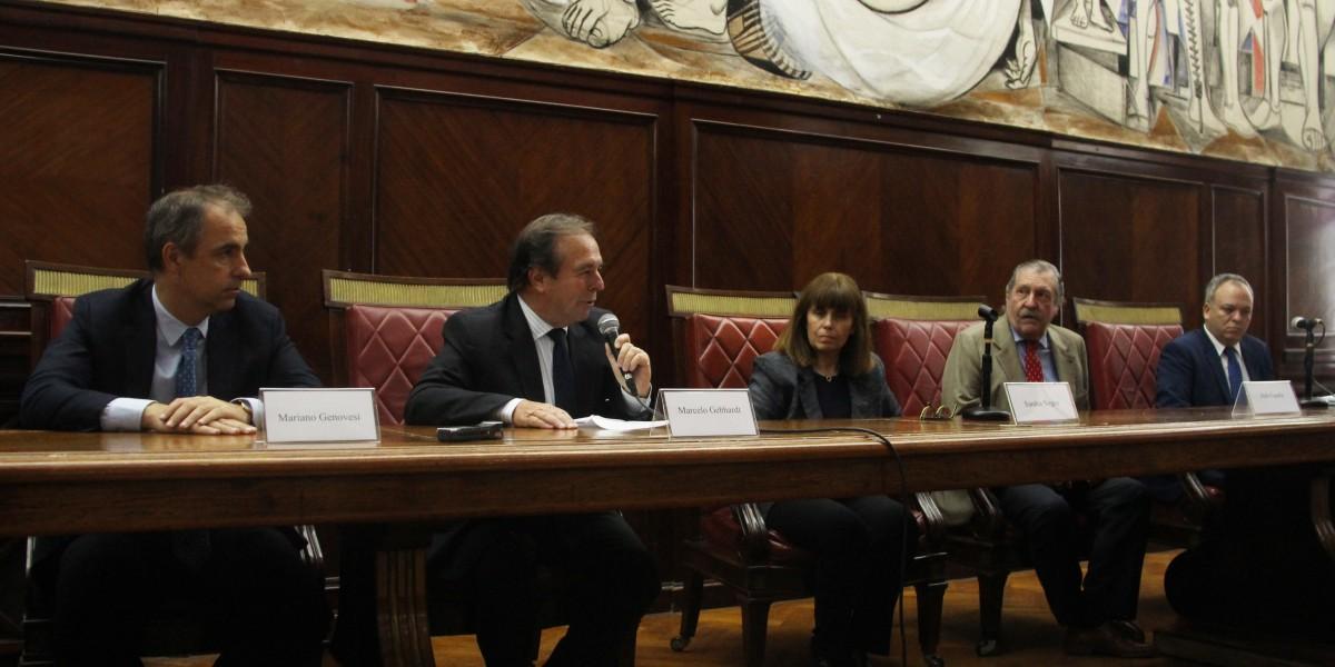 Mariano Genovesi, Marcelo Gebhardt, Sandra Negro, Aldo Casella y Juan Francisco Ortega