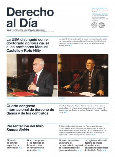 Tapa de Derecho al Día - Edición 331