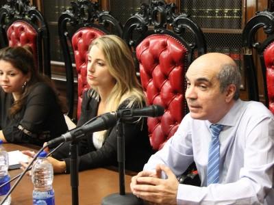 Noelia Cortinas, Paula Mayor y Néstor E. Solari
