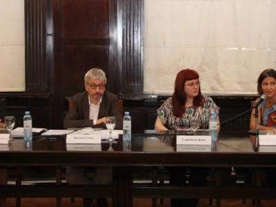 Agustina O'Donnell, Horacio Corti, Candelaria Botto y Fabiana Schafrik de Nuñez
