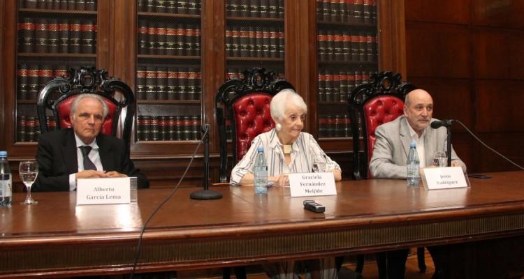 Alberto García Lema, Graciela Fernández Meijide y Jesús Rodríguez