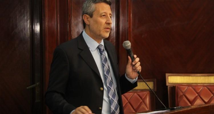 Mario Villar al momento de la apertura del congreso.