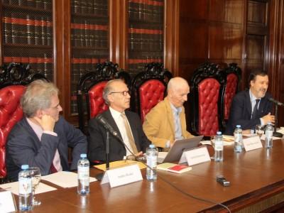 Andrés Rosler, Carlos Rosenkrantz, Jaime Malamud Goti y Daniel Pastor