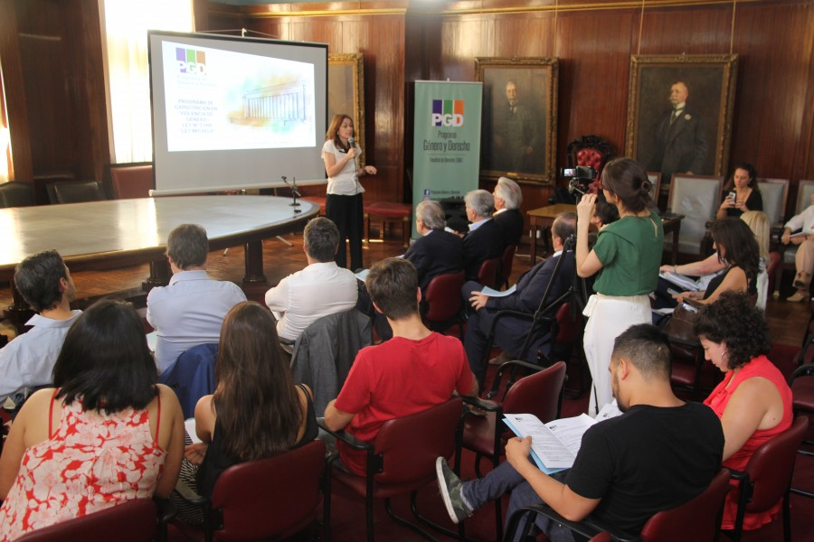 Laura Pautassi, directora del Programa Género y Derecho, brindó la primera unidad temática de la capacitación.