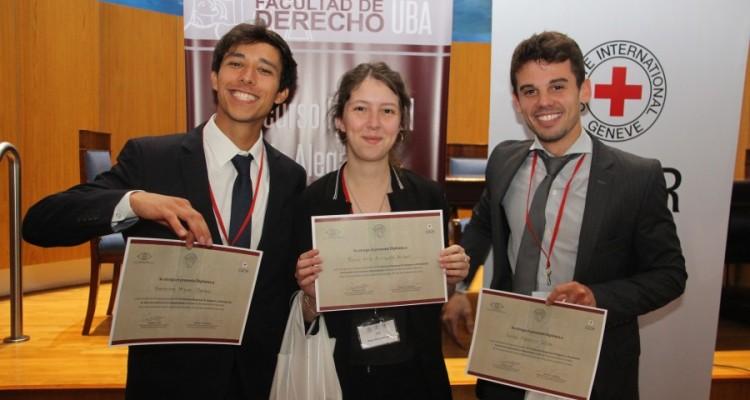 Equipo ganador: Rocío Ailín Anriquez Anlauf, Gerónimo Miguel Comba y Julián Federico Silva, Universidad Nacional de Mar del Plata.
