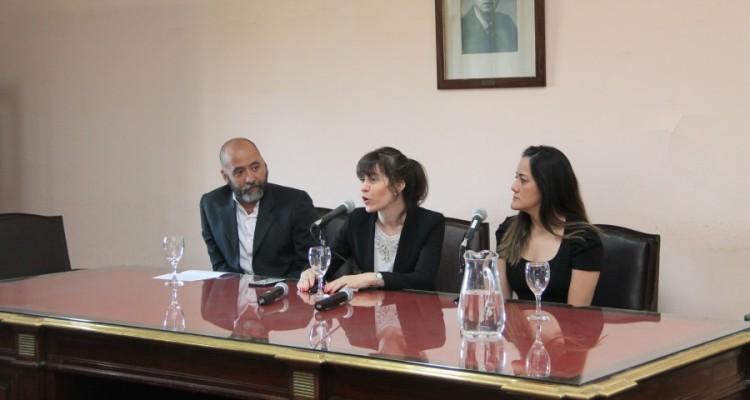 Diego Sprío, Luciana Scotti y Ana Carolina de Faria Silvestre