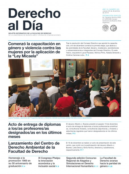 Tapa de Derecho al Día - Edición 333