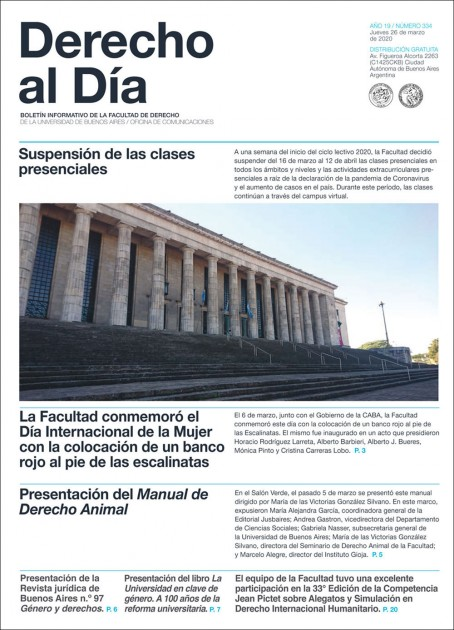 Tapa de Derecho al Día - Edición 334