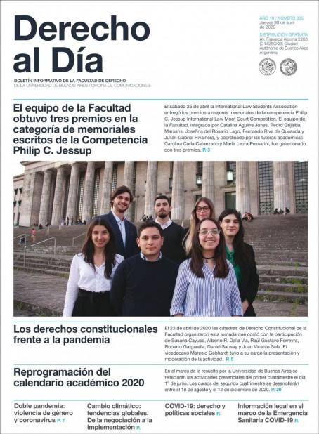 Tapa de Derecho al Día - Edición 335