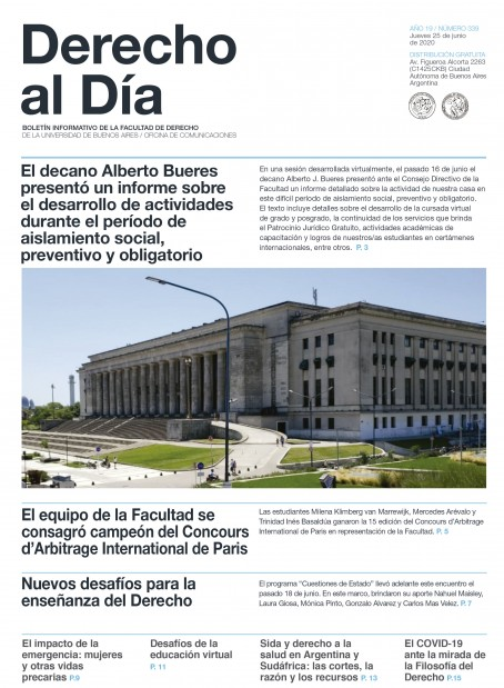 Tapa de Derecho al Día - Edición 339