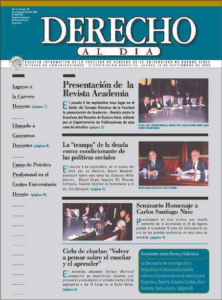 Tapa de Derecho al Día - Edición 34