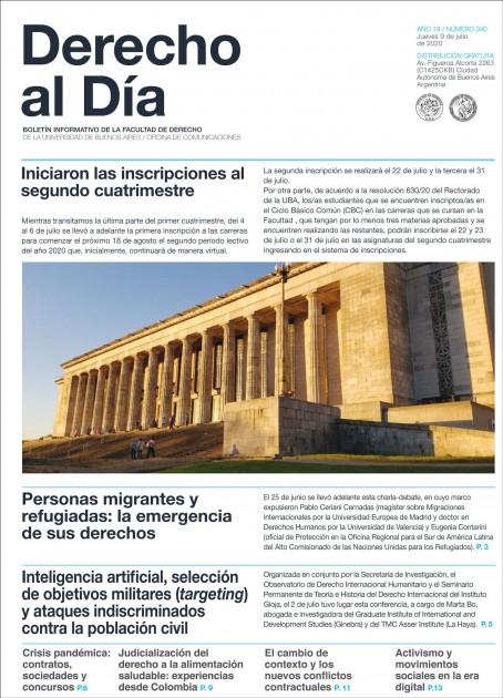 Tapa de Derecho al Día - Edición 340