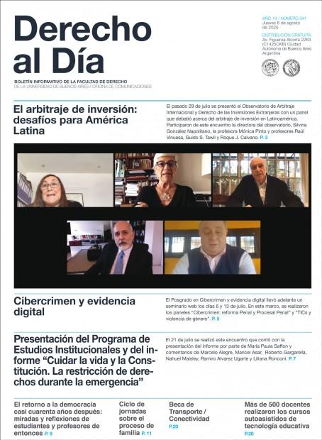 Tapa de Derecho al Día - Edición 341