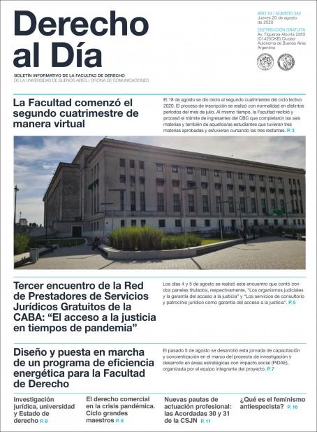 Tapa de Derecho al Día - Edición 342
