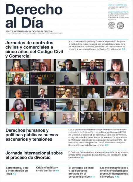 Tapa de Derecho al Día - Edición 343