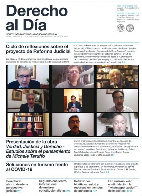 Tapa de Derecho al Día - Edición 344