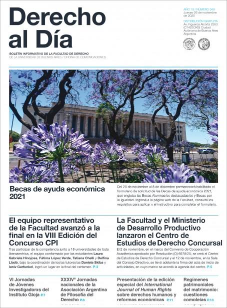 Tapa de Derecho al Día - Edición 349