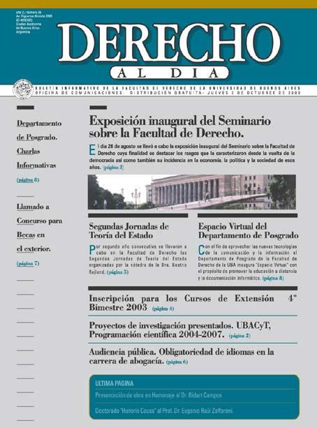 Tapa de Derecho al Día - Edición 35