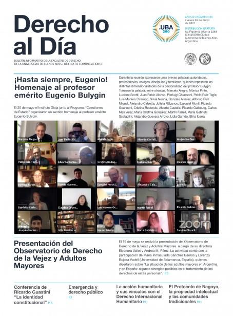 Tapa de Derecho al Día - Edición 355