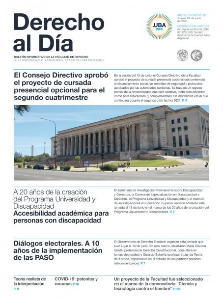 Tapa de Derecho al Día - Edición 357