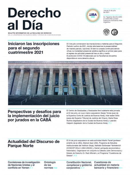 Tapa de Derecho al Día - Edición 358