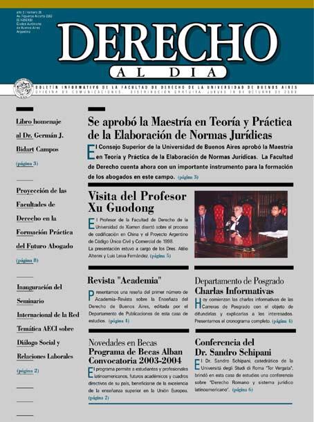 Tapa de Derecho al Día - Edición 36