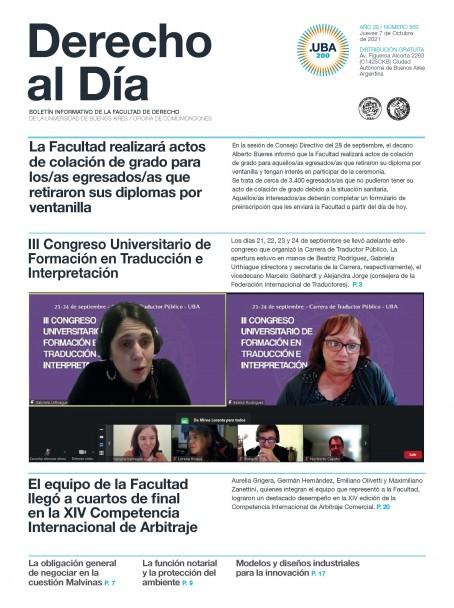 Tapa de Derecho al Día - Edición 363