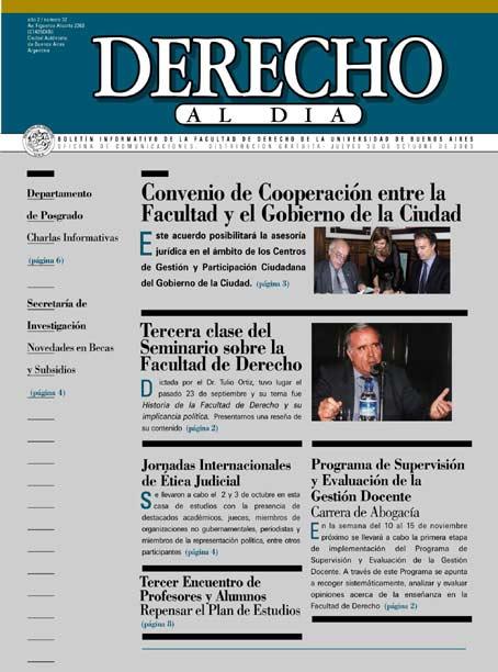 Tapa de Derecho al Día - Edición 37