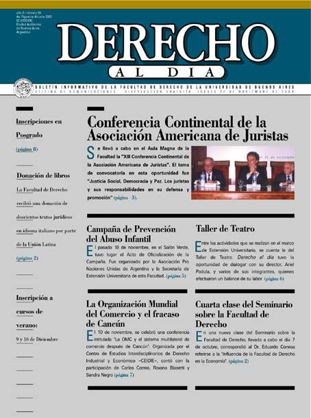 Tapa de Derecho al Día - Edición 39