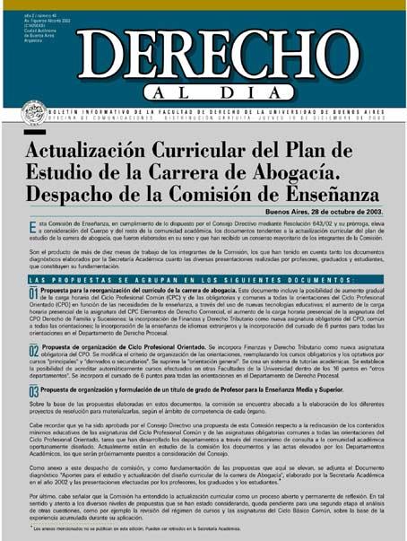 Tapa de Derecho al Día - Edición 40