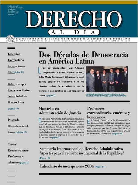 Tapa de Derecho al Día - Edición 41
