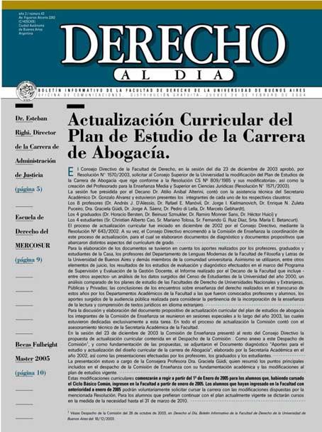 Tapa de Derecho al Día - Edición 42