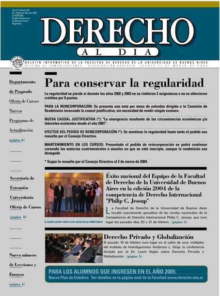 Tapa de Derecho al Día - Edición 43