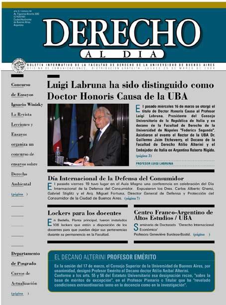 Tapa de Derecho al Día - Edición 44