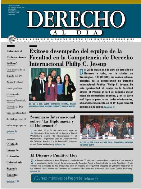 Tapa de Derecho al Día - Edición 46