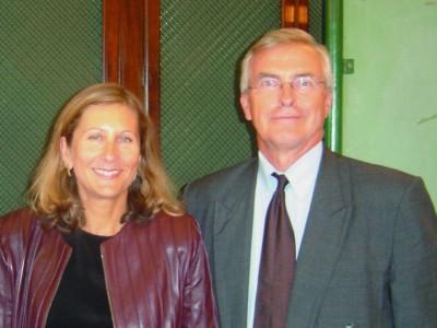 Geraldine Van Bueren y James Michal