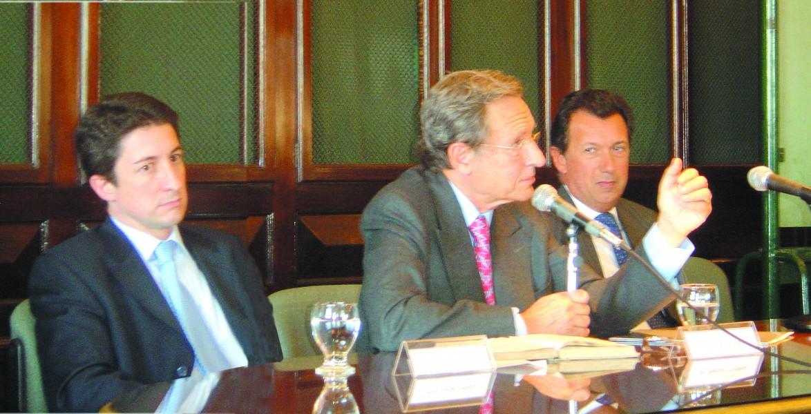 Adrián Ventura, Mariano Grondona y Alberto Dalla Vía