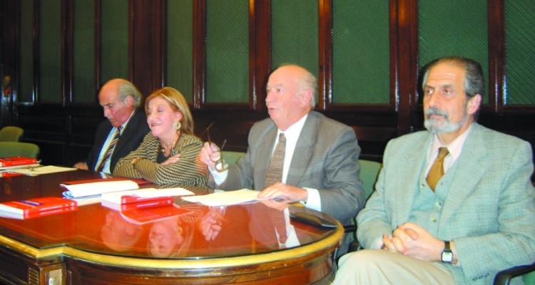 José María Simonetti, Zulita Fellini, David Baigún y Edmundo Hendler