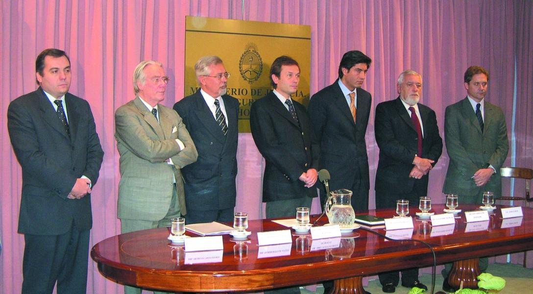 Martín Montero, Norberto Quantín, Abel Fleitas Ortiz de Rozas, Gustavo Béliz, Alejandro Slokar y Eduardo Luis Duhalde